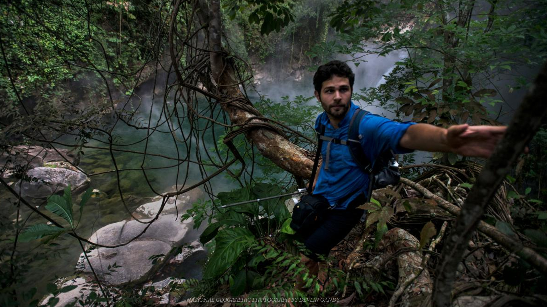 SMU student Andres Ruzo in the Amazon