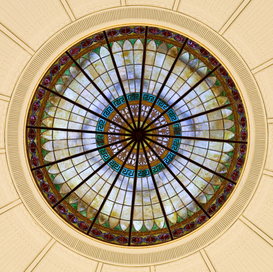 Dallas Hall Rotunda Stained Glass
