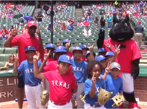 SMU at the Texas Rangers