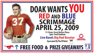 2009 Red and Blue scrimmage poster