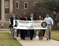 Martin Luther King Unity March at Southern Methodist University