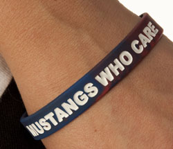Mustangs Who Care wristband