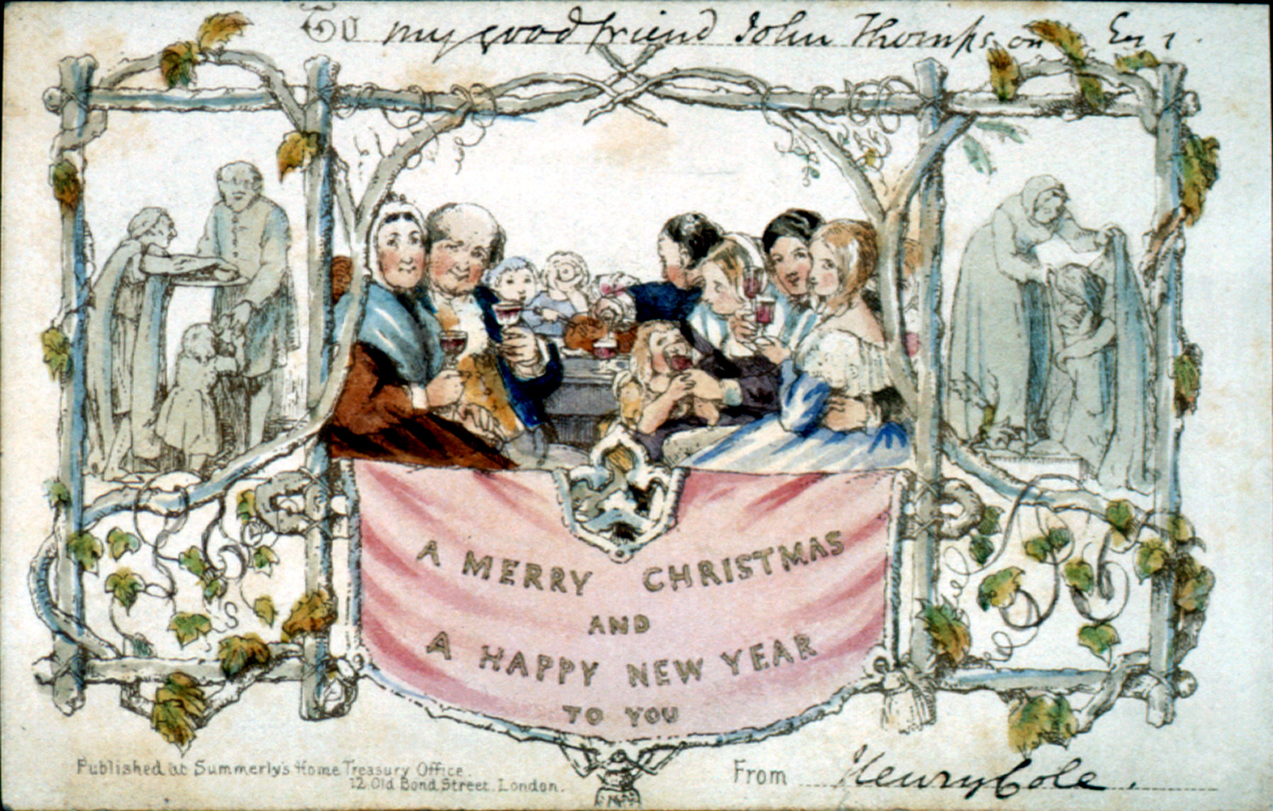 """World\'s oldest Christmas Card: Deep in the """"vault"""" of Texas - SMU"""