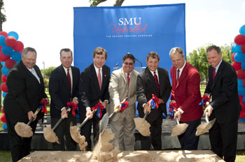 Groundbreaking for the SMU Payne Stewart Golf Learning Center at the Dallas Athletic Club on 15 June 2009.