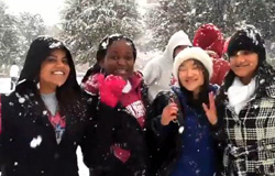 Video of snowfall at SMU on 12 February 2010