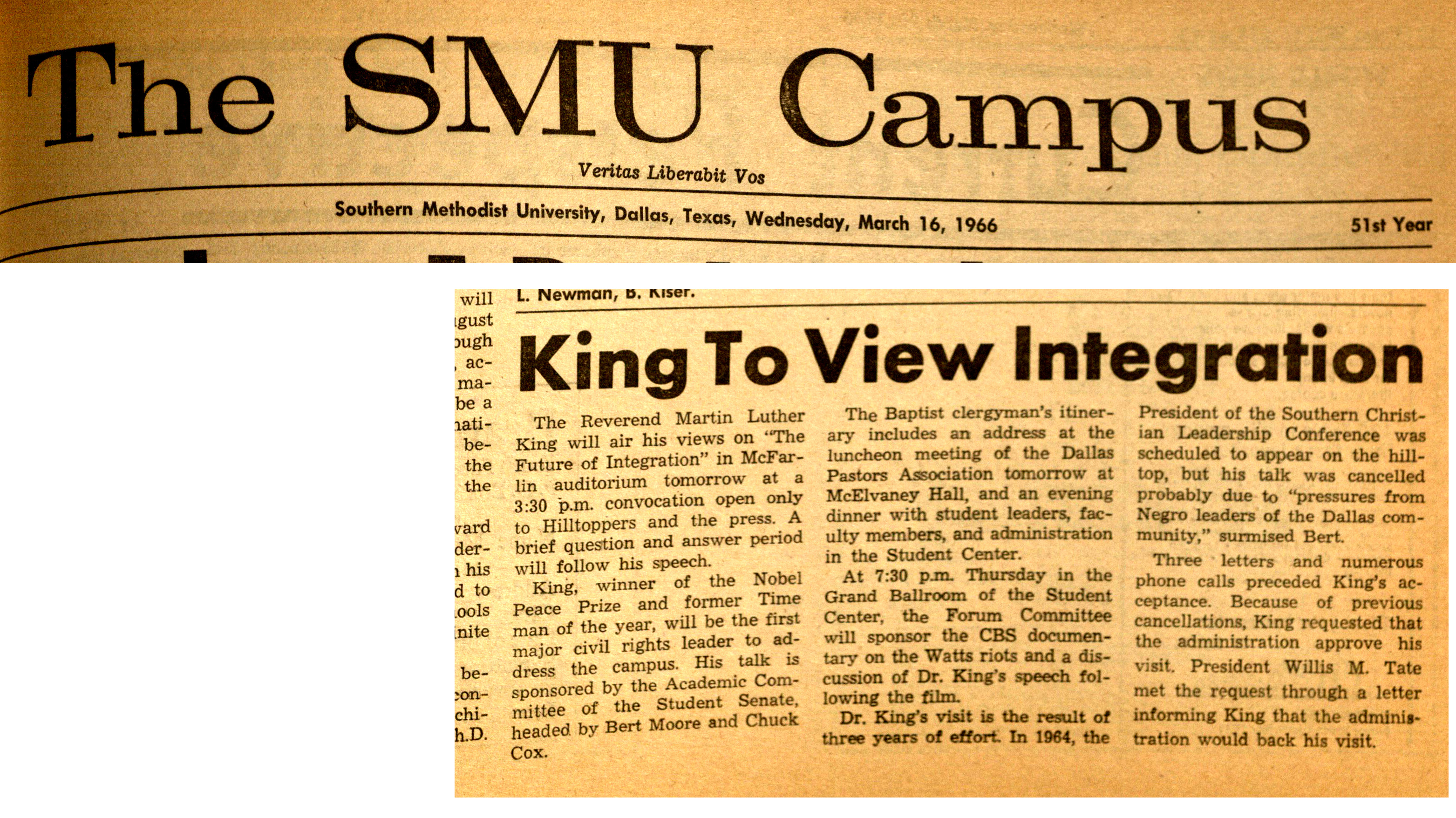 Dr. Martin Luther King Jr. at SMU