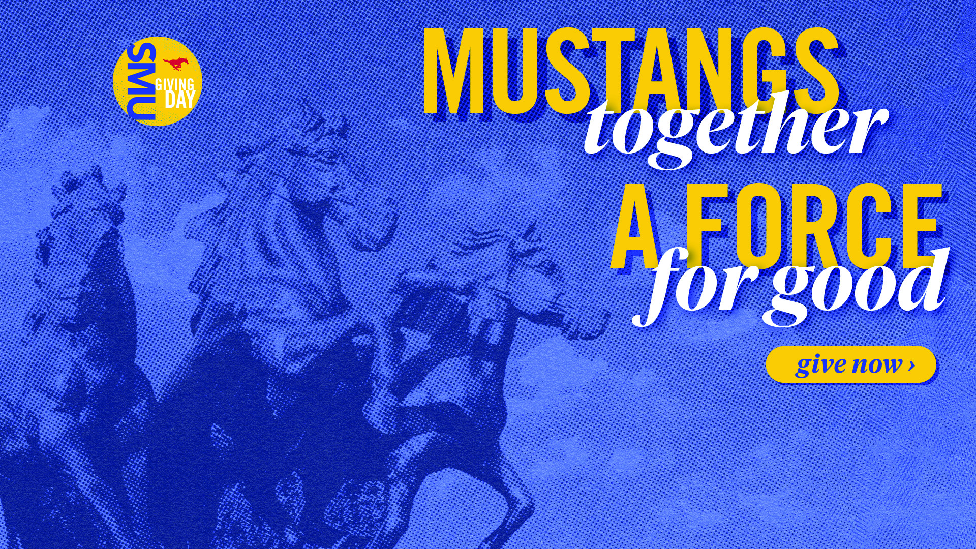 Mustangs together, a force for good.