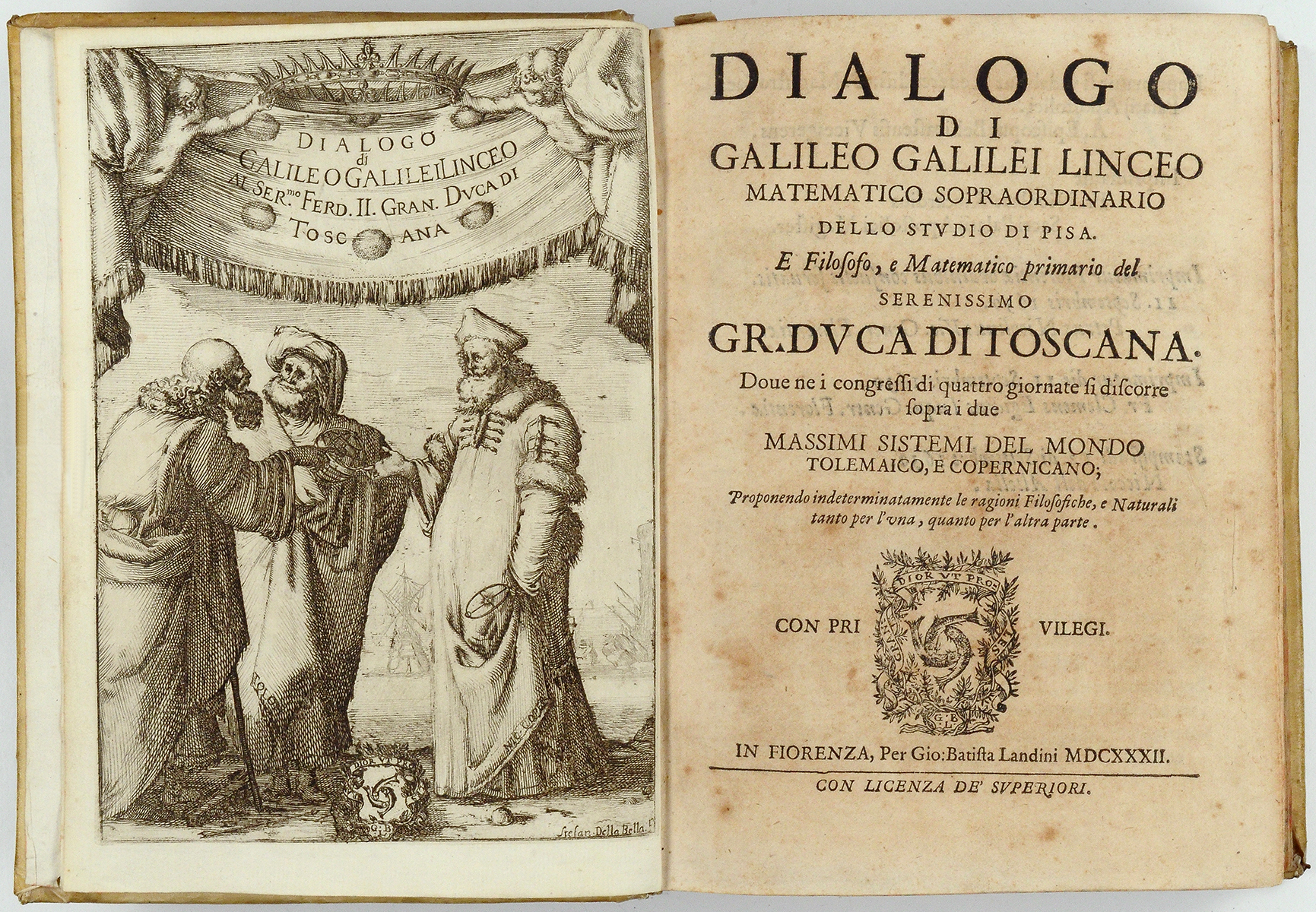 books from the ruth and lyle sellers collection on deposit at bra0851 galileo galilei dialogo di galileo galilei linceo matematico sopraordinario dello studio di pisa florence g b landini 1632