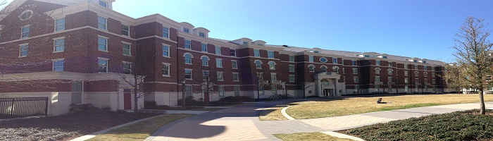Picture of exterior of Ware Commons