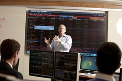 Don Shelly in the Kitt Investing & Trading Center