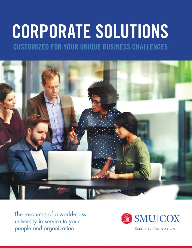 SMU Cox Executive Education Corporate Solutions brochure