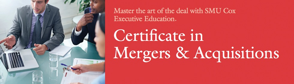 Mergers & Acquisitions Certificate Course at SMU Cox - SMU