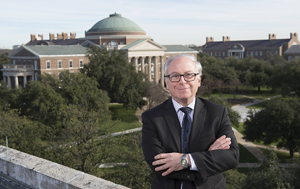 Dean Thomas DiPiero with Dallas Hall in the Background.
