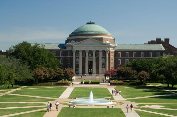 Aerial Picture of Dallas Hall, SMU.
