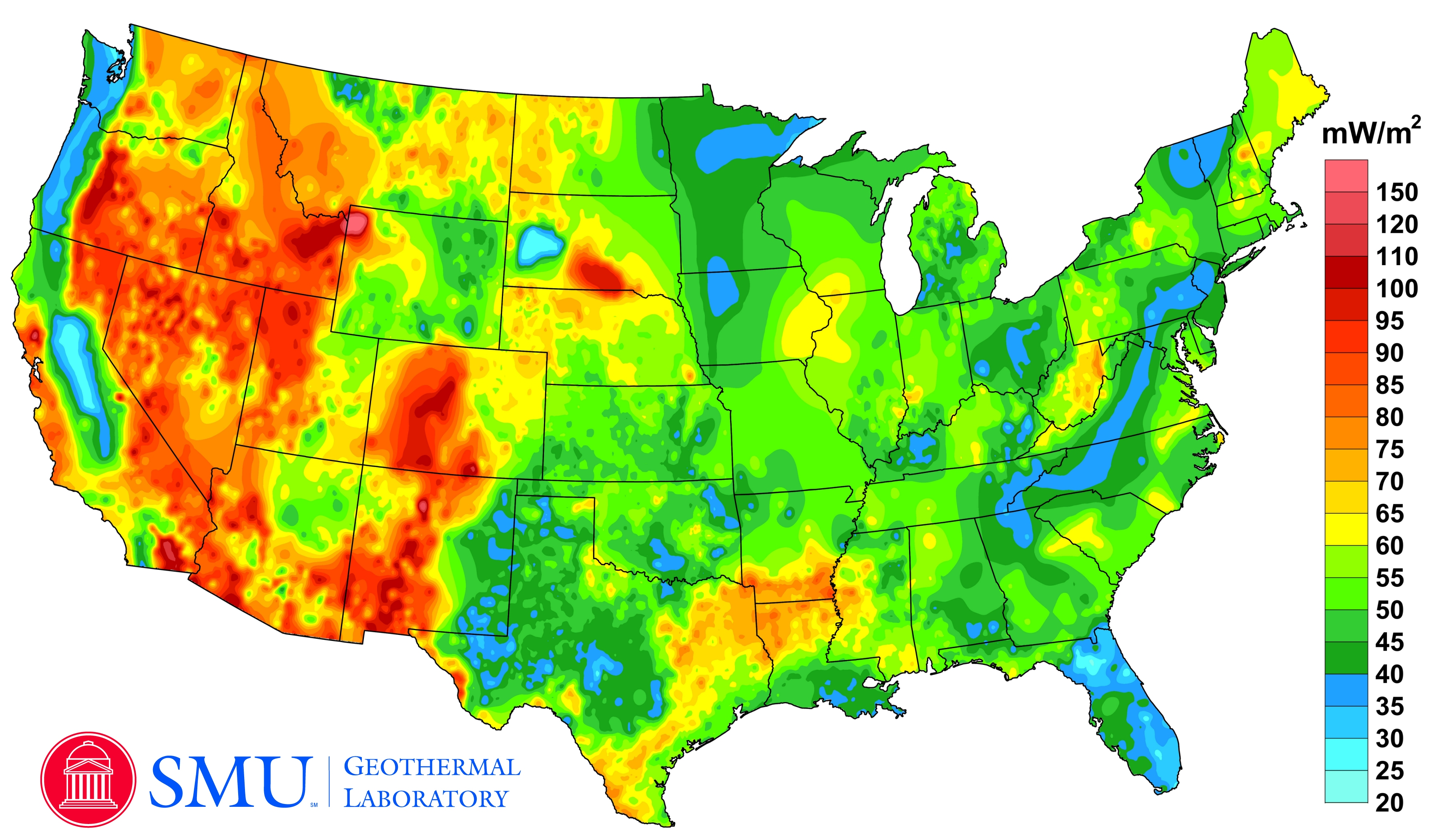 Geothermal Current Maps Dedman College SMU - Us map gradient generator