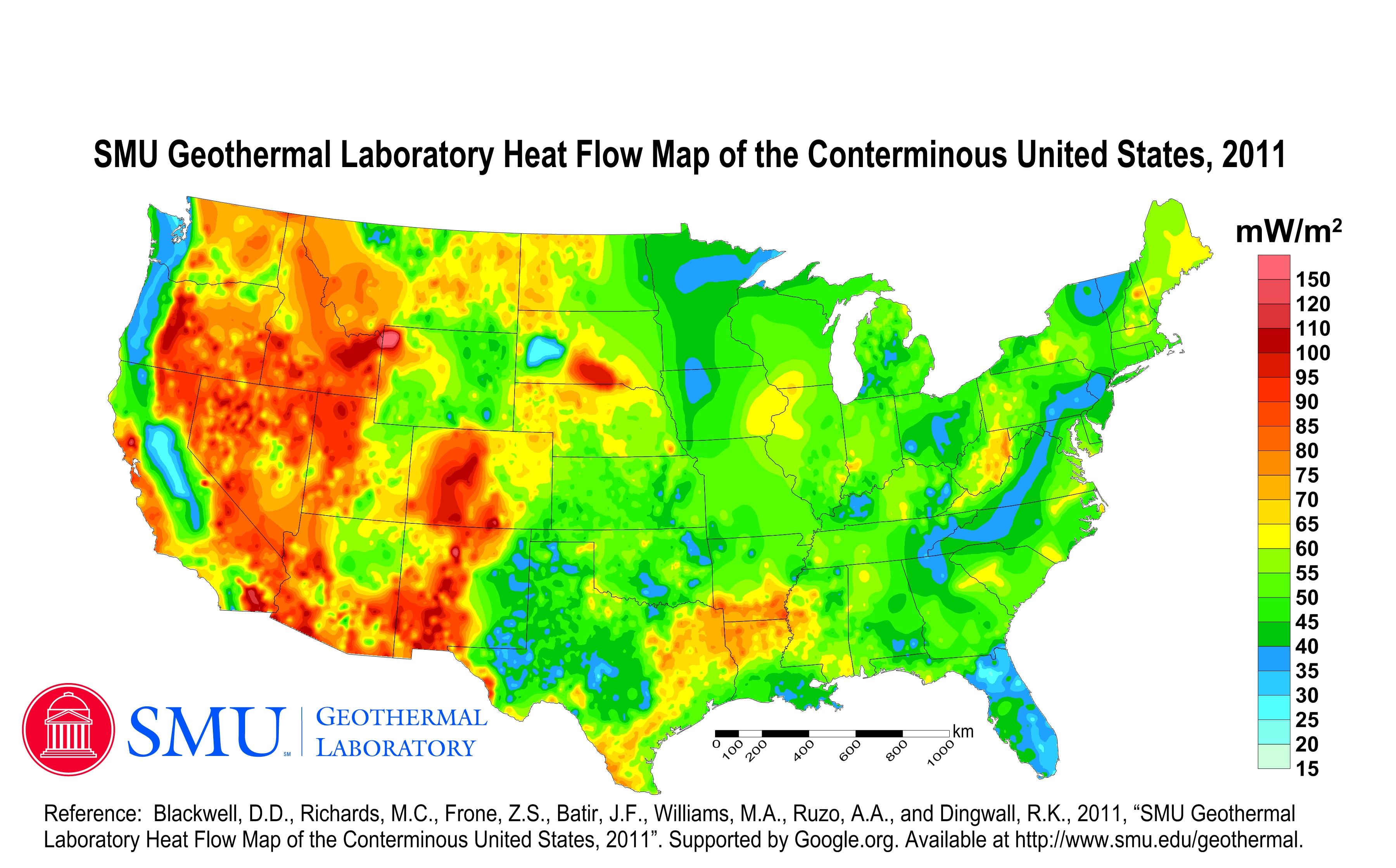 Geothermal Current Maps Dedman College SMU