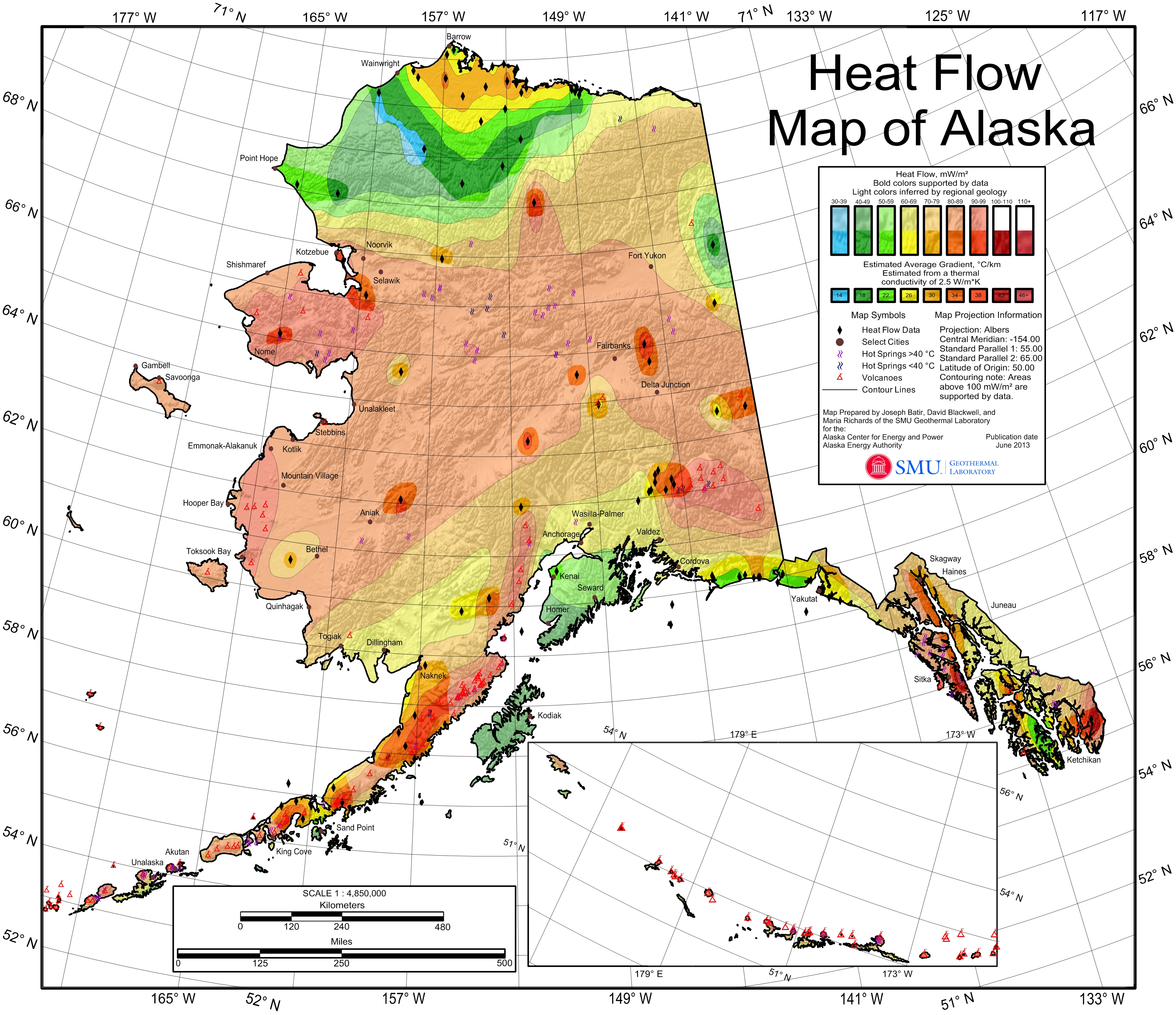 Geothermal Current Maps Dedman College Smu - Geothermal-map-of-the-us