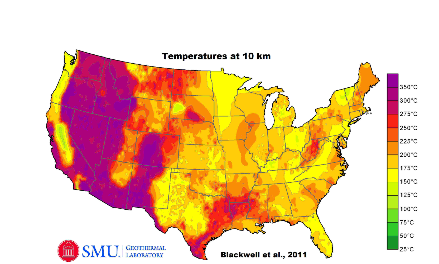 Geothermal Data And Maps Dedman College SMU - Geothermal map of the us