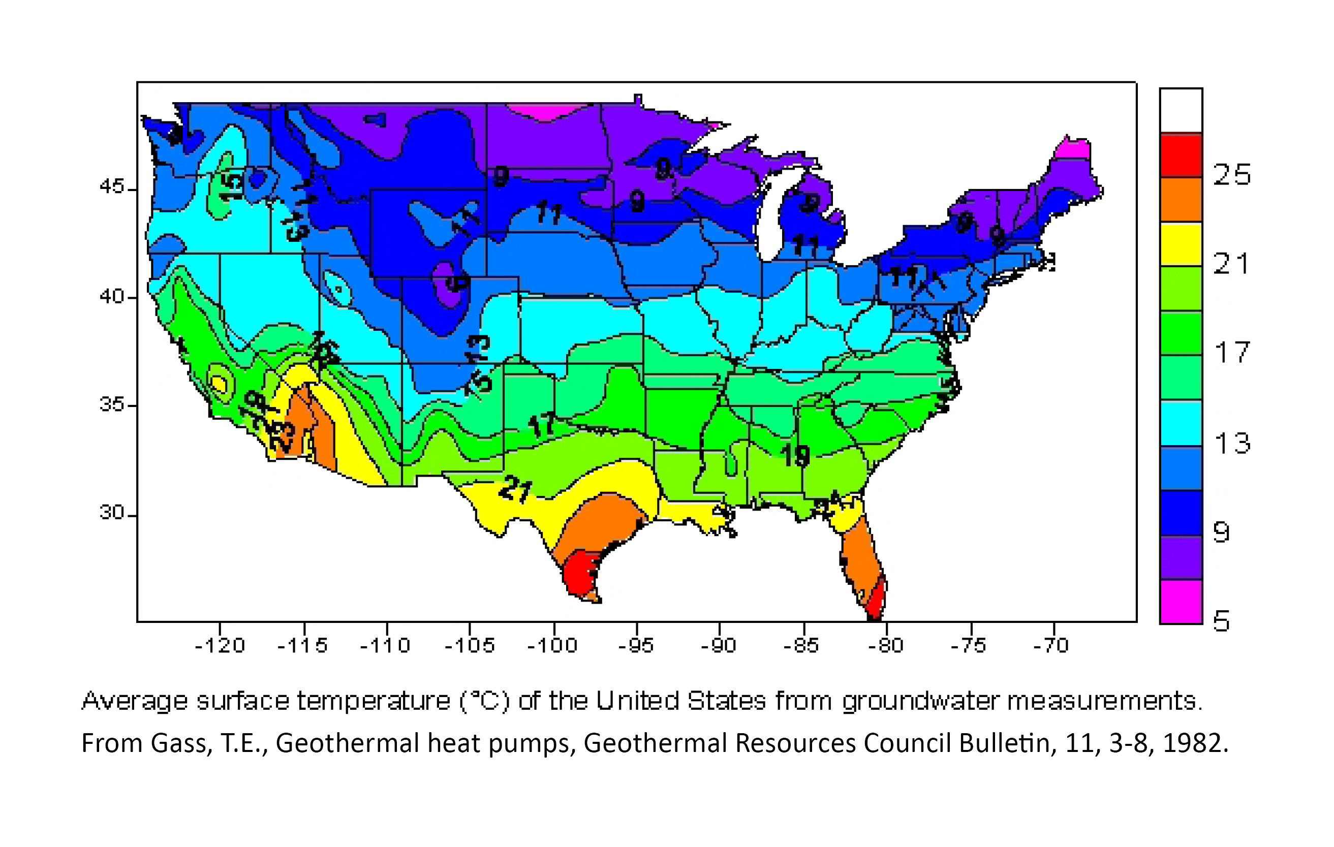 Temperature Maps Dedman College SMU - Average temp map us