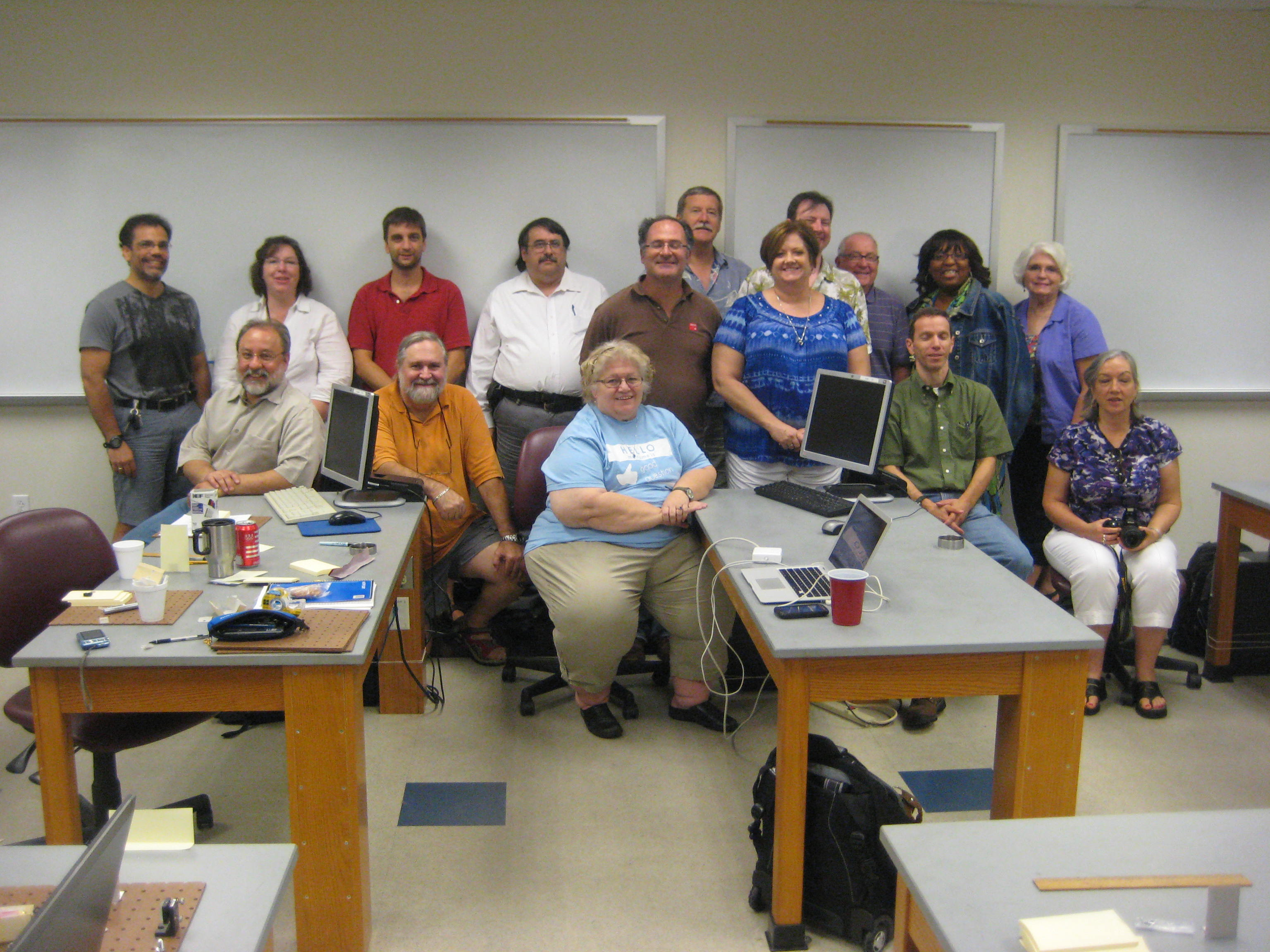 Particle Physics Group in classroom