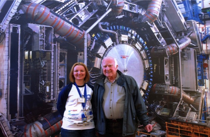 Physics postdoctoral fellow Julia Hoffmann poses for a photo in CERN