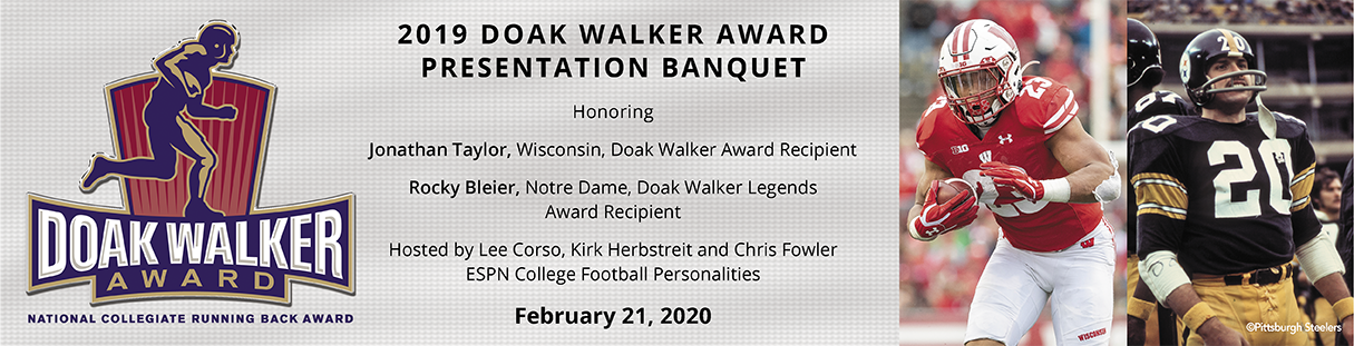 2020 Doak Walker Award Presentation February 21, 2020 honoring Jonathan Taylor and Rocky Bleier