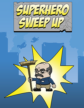 SMU Guildhall 2D Game Superhero Sweep Up