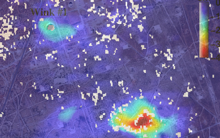 Based on satellite radar images, SMU geophysicists report a potential new sinkhole is forming in the oil and gas fields of West Texas near two existing sinkholes already larger than a football field.