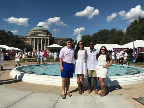 Hunt Scholars on Main Quad