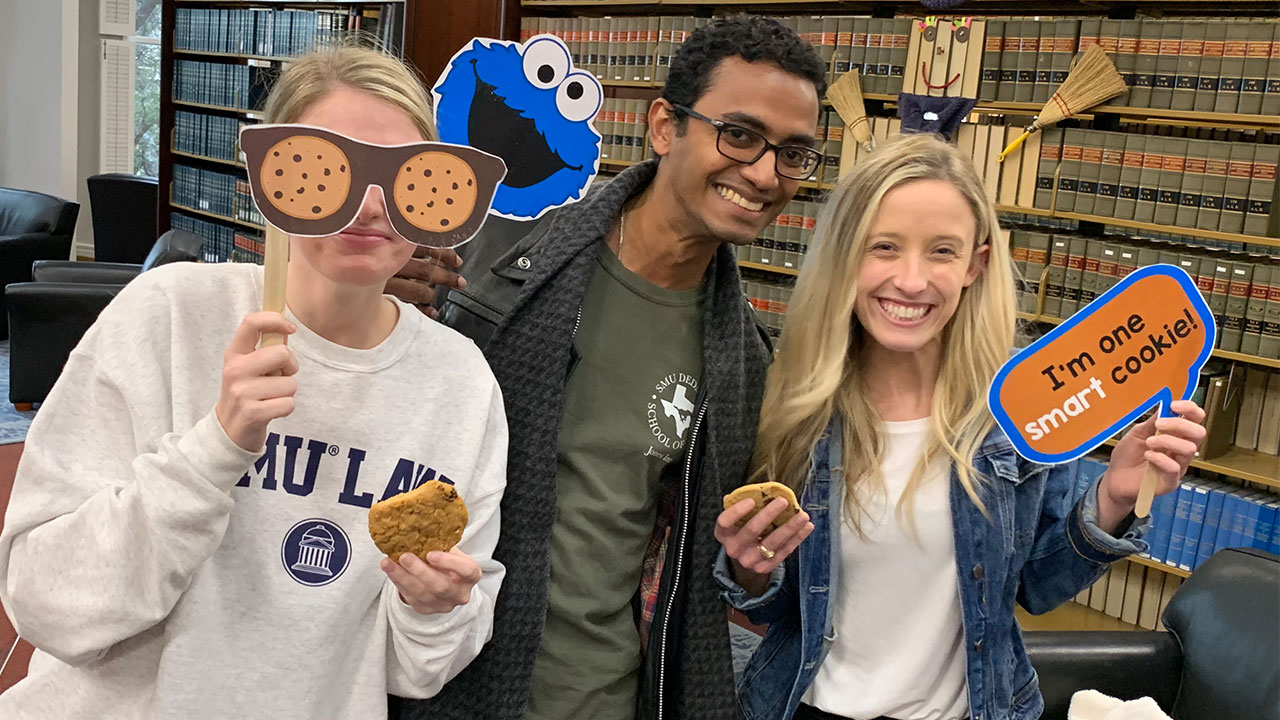 SMU Dedman Law students cookie monster