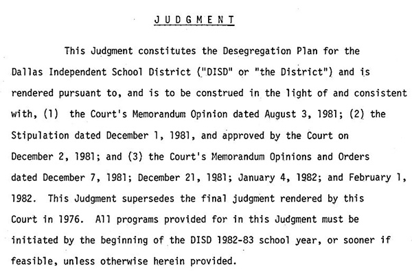 DISD Desegregation Archives