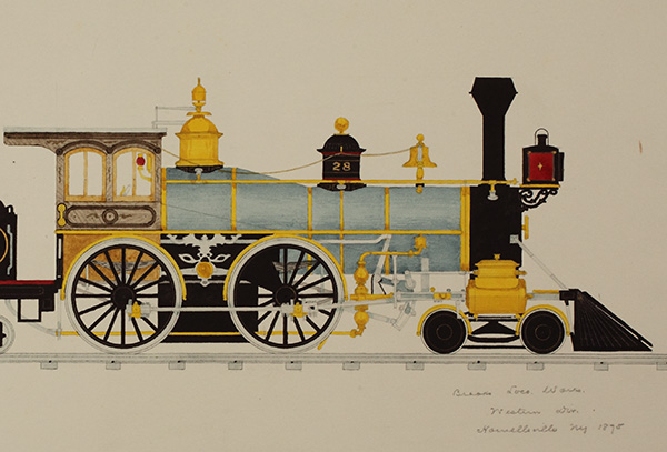 William Halsey Locomotive Drawing Collection