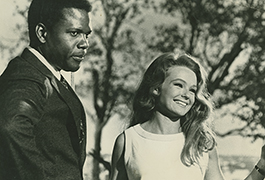 Sidney Poitier and Katharine Houghton in Guess Who's Coming to Dinner, 1967