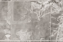 Grid 03 closeup showing Hillcrest Cemetery and Northwest Highway, 1945