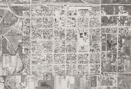 Grid 05 closeup showing Town of Irving, 1945