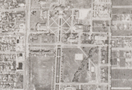 Grid 07 close up showing SMU campus, 1945