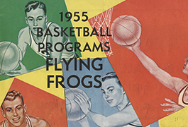 SMU vs. TCU Basketball Game Program (1955)
