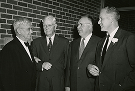 Four SMU Presidents, 1950s