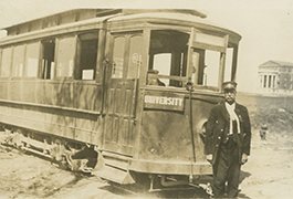 [The 'Dinkey' Streetcar], ca. 1916