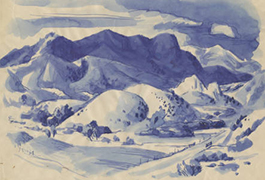 In the Mountains, by Jerry Bywaters, 1942