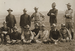 [Colonel Theodore Roosevelt with a Group of Rough Riders Recommended for Promotion]