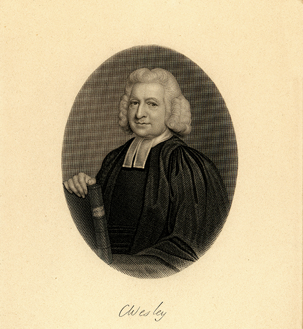 engraving of Charles Wesley