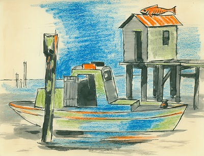 Page 61 from DeForrest Judd's Gulf Coast Sketchbook