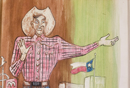 Big Tex from Sketchbook 84, 1954