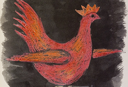 Rooster from Sketchbook 073, 1951