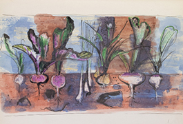 A garden scene from Sketchbook 71, 1955-1957