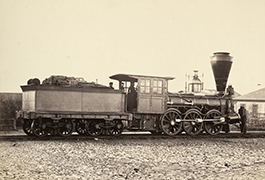 [Wood burning locomotive on Nikolaev Railway]