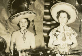 [Esther Webb Houseman and Velma Davis Dozier with their Metalwork]