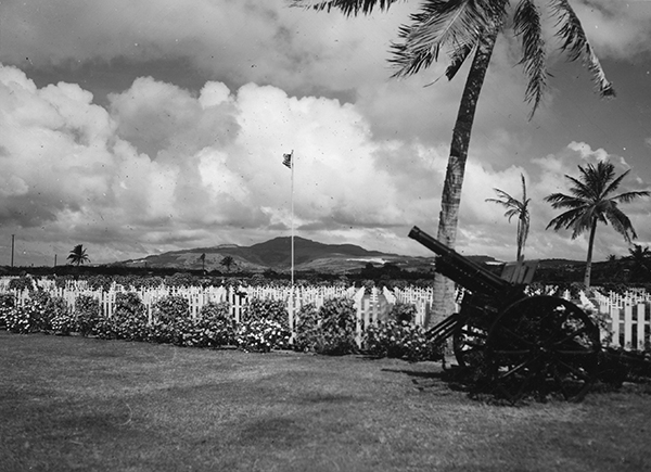 Cemetery for U.S. forces (Saipan), 1945