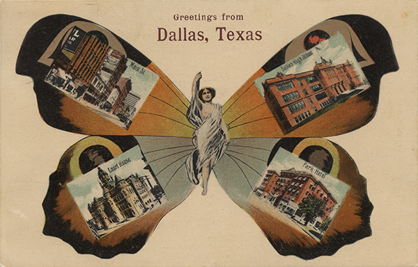 Greetings from Dallas, Texas, 1909